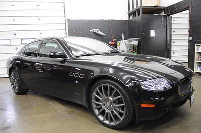 2007-Maserati-quattroporte-sport-GT-Black-custom-exhaust-stainless-fabrication-chicago-black